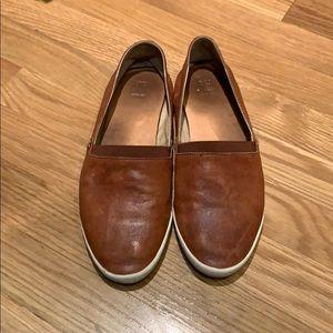 Frye Melanie brown leather slip on